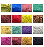 800g Cosmetic Grade Natural Mica Powder Pigment for DIY Soap Candle Making,Eye Shadow, Toiletry Crafter, Colorant Dye 16 Colors (50 Grams Each, 800 Grams Total)