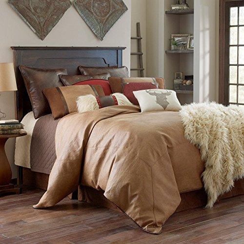 Hiend Accents Unisex Brighton Super King 4-Piece Bedding Set Tan One (Leather Comforter)