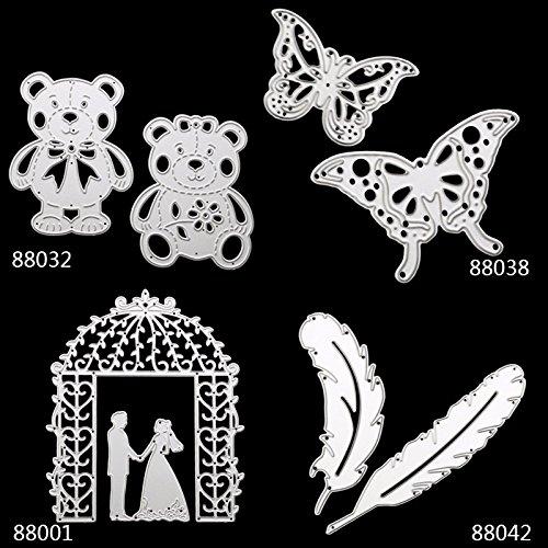 Wedding Cutting Dies Metal Cutting Dies Stencils For DIY Die Cut Stencil Scrapbooking Embossing Decorative Cards 4Set