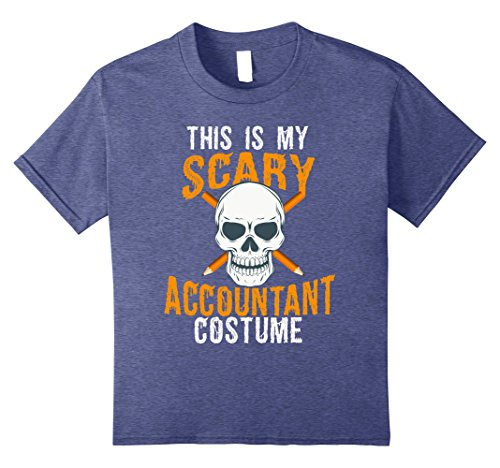 Kids Funny Scary Accountant costume Tee shirt for Halloween 2017 8 Heather Blue