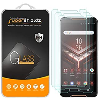 (3 Pack) Supershieldz for Asus Rog Phone Tempered Glass Screen Protector, Anti Scratch, Bubble Free
