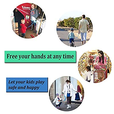 Anti Lost Wrist Link [2 Pack], Hossom Toddler Wrist Leash, Child Safety Leash, Child Wrist Leash, Anti Lost Rope Safety Harness for Kids [4.92ft &8.2ft]