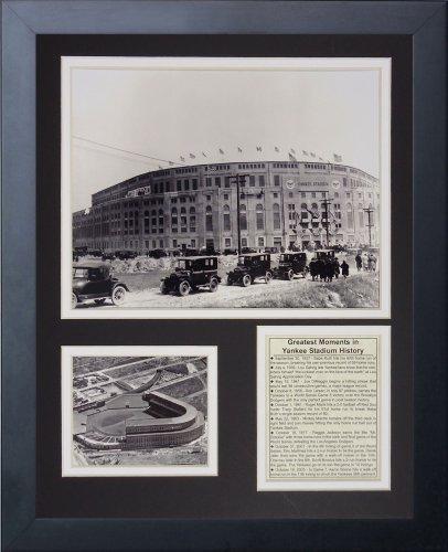Legenden Sterben Nie 1923 Yankee Stadion gerahmtes Foto Collage, 11 x 35,6 cm von Legends Never Die