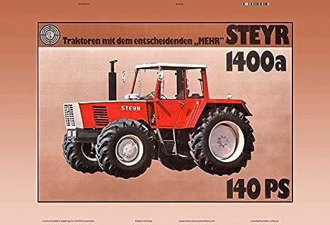 33 cm 37416 Steyr Diesel Traktor gr/ün Blech Blechtraktor Blechmodell Tin Model Vintage Tractor ca