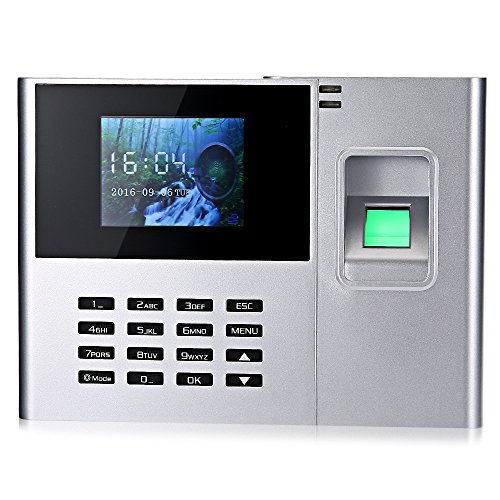 Face fingerprint attendance facial recognition business office punch card machine UK plug by SZYT (Image #3)