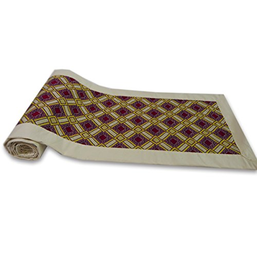 tamarind-bay-pattered-cotton-natural-bed-runner-with-ivory-colored-border-and-underside-maya
