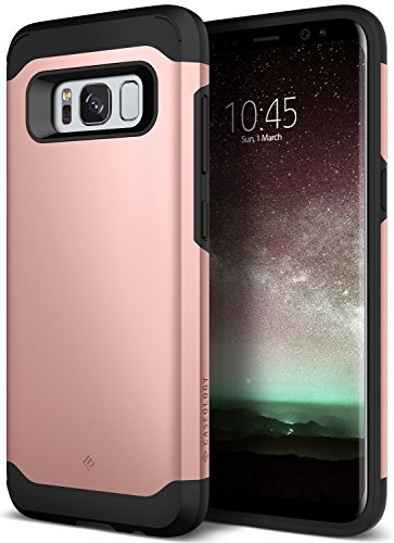 Galaxy S8 Plus Case, Caseology [Legion Series] Heavy Duty Protection Slim Protective Rugged Dual Layer Corner Cushion Design for Samsung Galaxy S8 Plus (2017) - Rose Gold