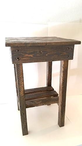 Beau Amazon.com: Night Stand/ End Table/Rustic End Table/Rustic Side Table/Bedside  Table/Aged/Vintage End Table/Handmade/Custom New Materials/Farmhouse Table:  ...