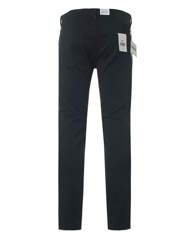 Edwin Herren ED-80 dünne Jeans in Karottenform, Schwarz