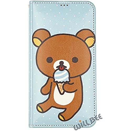 Samsung Galaxy S7 Edge Case RILAKKUMA Cute Diary Wallet Flip Synthetic Leather Galaxy S7 Edge (5.5inch) Cover (Rilakkuma Icecream) Sales
