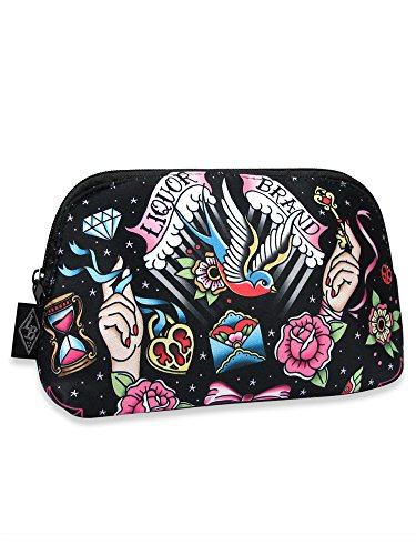 Liquorbrand Tattoo Swallow Old School Flash Art Cosmetic Make-up Shave Bag Pouch by Liquorbrand