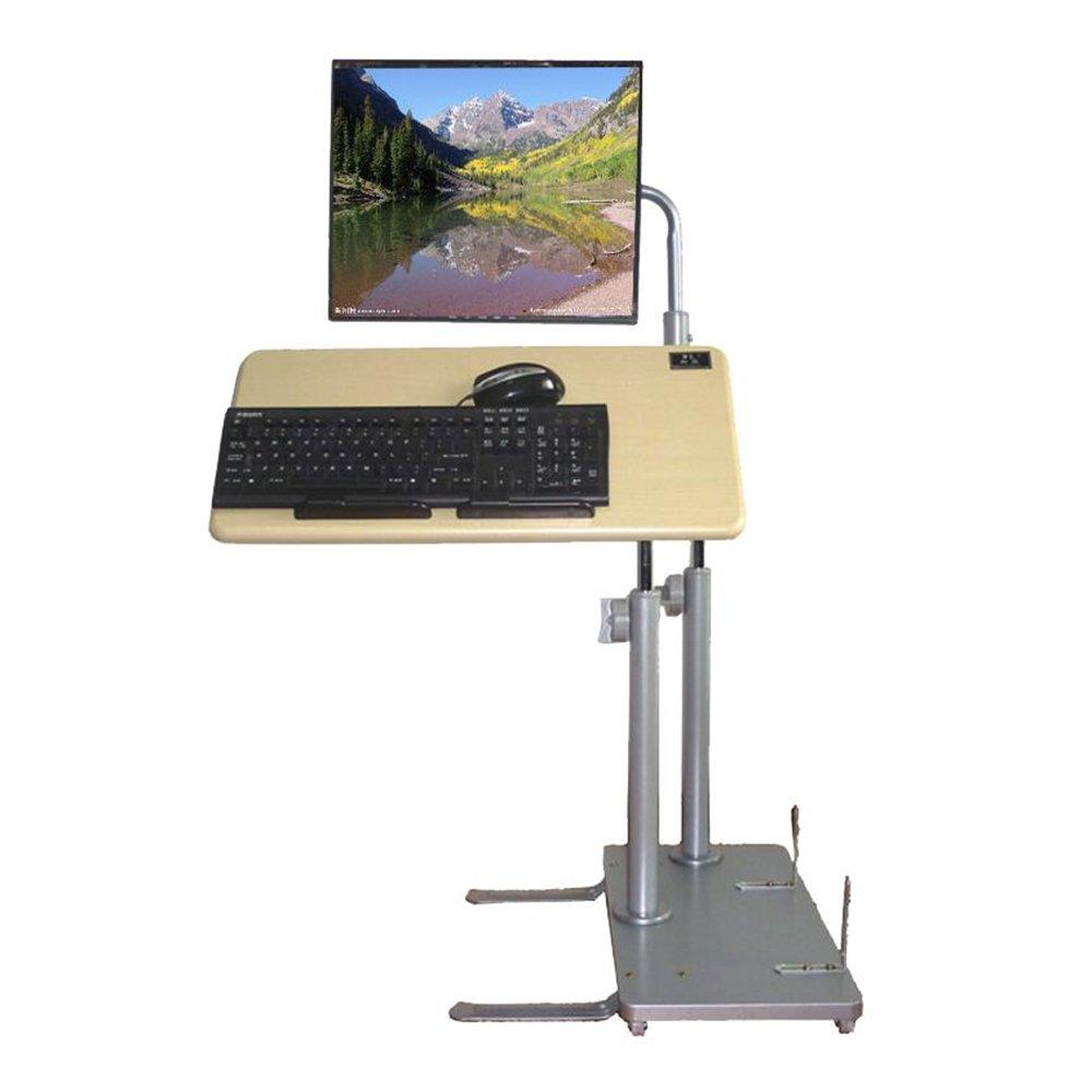 XIAOLIN ベッドサイドデスクトップコンピュータデスクホーム使用折り畳み式持ち上げテーブルレイジーテーブル簡単なコンピュータデスク可動式持ち上げブラケット B07F3DGM2W