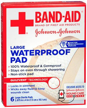 Johnson & Johnson 6 CT、5のパック - でX 4 2.875大きなバンドエイド防水パッド   B07BNQK4PV