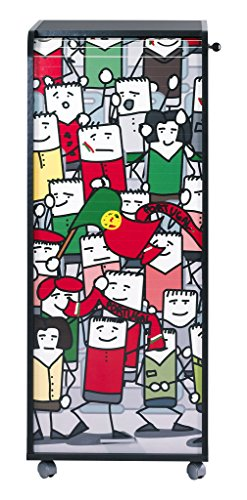 simmob orga110bnon967Portugal Fans 967Waschtisch Aufbewahrungsschuppen Büro Trolley Holz schwarz 47x 47,2x 107,6cm