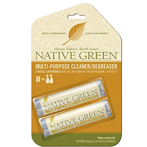 Native Green Multi-Purpose Cleaner/Degreaser Refill Pack. Kitchen Cleaner Refill Pack - Includes 2 Refill Pods