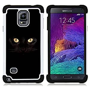 - black cat Siamese panther house pet/ H??brido 3in1 Deluxe Impreso duro Soft Alto Impacto caja de la armadura Defender - SHIMIN CAO - For Samsung Galaxy Note 4 SM-N910 N910