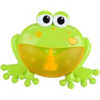 Homyl Baby Toddlers Bath Bubble Toy Frog Blower Bubble Machine Maker with Nursery Rhyme Bathtub Toys for Infant Children…