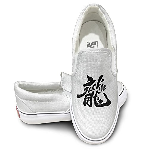 RCINC Personalized Jackie Dragon Chan Nude Shoes White Size 44 ()