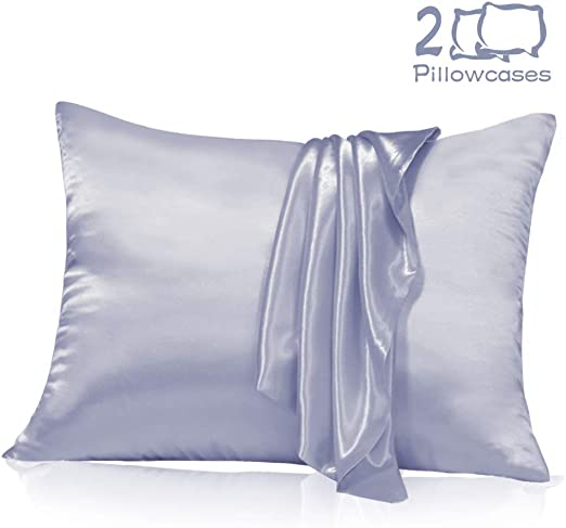 Amazon Com Muama Satin Silk Pillowcase 2 Pack For Hair And Skin