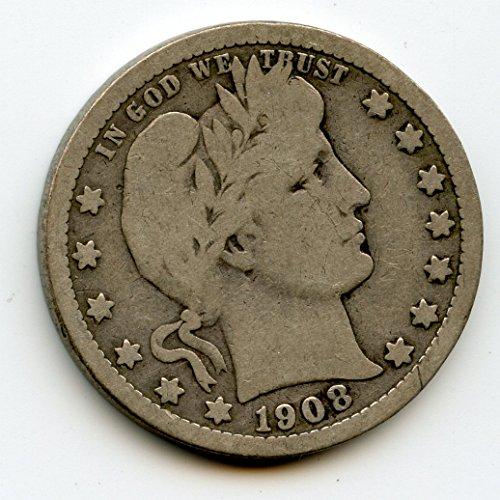 1908 O Barber Quarter VG-10