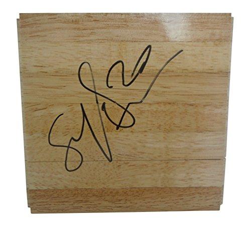 Atlanta Olympic Stadium - Atlanta Dream Brittney Sykes Autographed Hand Signed 6x6 Parquet Floorboard with Proof Photo of Signing, Team USA, United States, Syracuse Orange, COA - Basketball Floor Boards