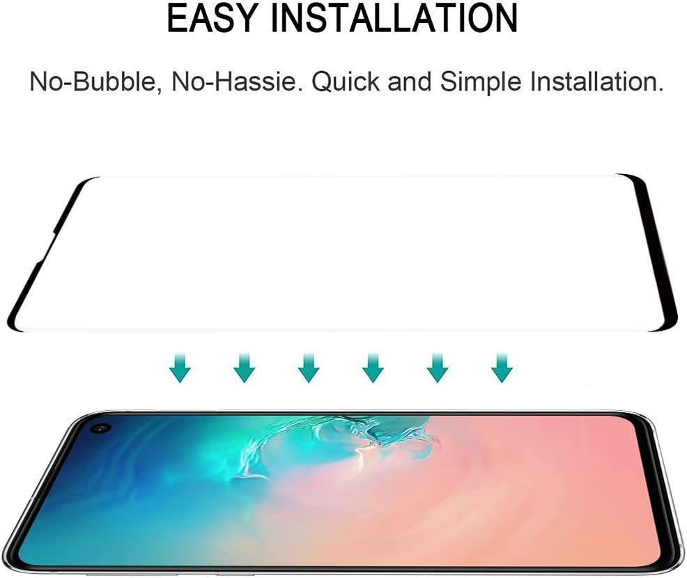 Lessen Version Screen Protector Film LGYD 25 PCS 9H 2.5D Premium Curved Screen Crystal Tempered Glass Film for Galaxy S10