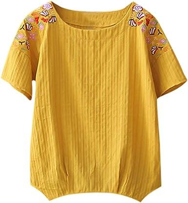 VEMOW Mujeres Casual Tallas Grandes Camiseta Camisa Manga ...