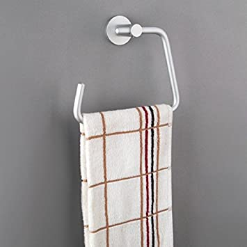 LL moderno retro accesorios para baño Espacio Aluminio de aluminio espacio toalla anillo rack gancho colgar toallas de baño: Amazon.es: Hogar