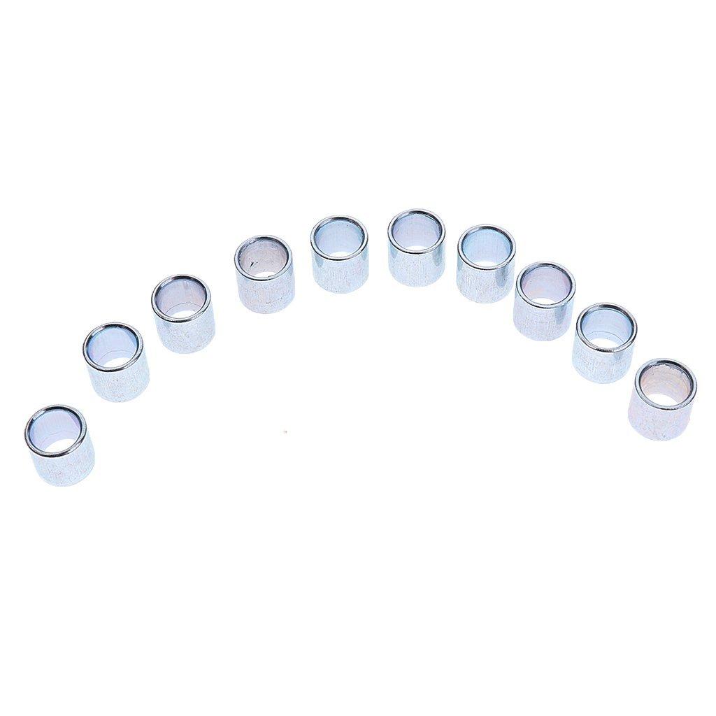 NON MagiDeal 20 Piezas Separadores de Rodamientos de Ruedas en L/ínea Hierro 8 mm para Patines