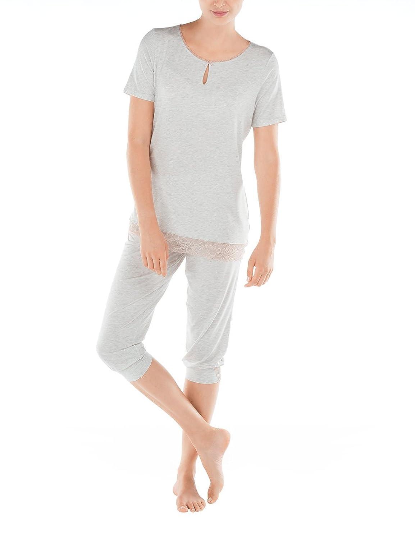 buy online 554f2 c4d3f Calida Damen Zweiteiliger Schlafanzug Lisbon Pyjama 3/4 ...