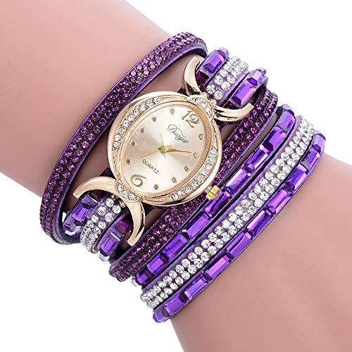 (Fashion Decorative Watch for Women, Women Luxury Ladies Bracelet Diamond Circle Watch Student Fashion Table)