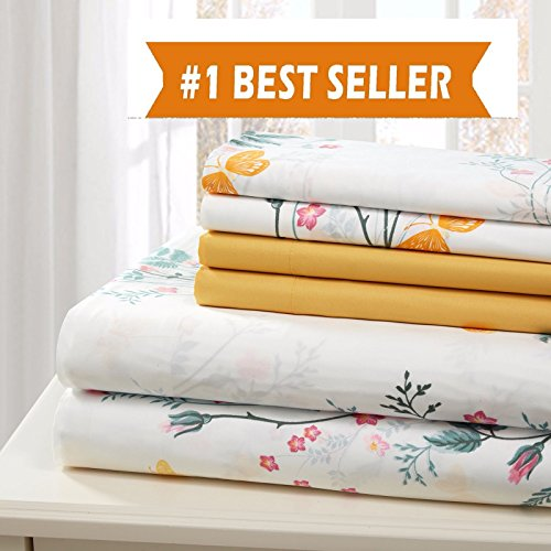 TRADITIONAL AT HOME BED SHEET COTTON 6 PIECE SHEET SET EXTRA SOFT WRINKLE FREE (KING)