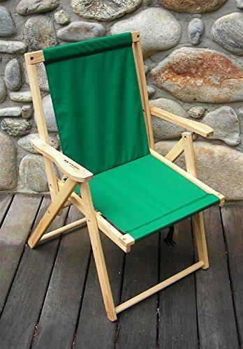 Blue Ridge Trading Highlands Folding Deck Chair in - Dining Ridge Blue Chair