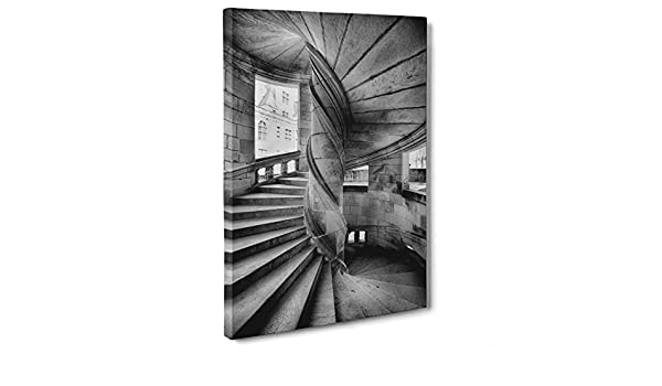 Cuadro sobre lienzo Canvas – ConKrea – Listo para colgar – Escalera de caracol – Arte fotografía Ansel Adams: Amazon.es: Hogar