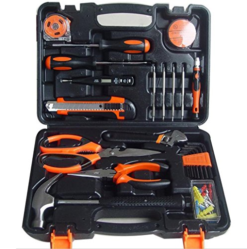 General Tool Kit (Hi-tech 45-Piece Homeowner's Tool Kit,General Household Hand Tool Set,hardware tool set,Screwdriver,Wrench,Scissors,Claw)