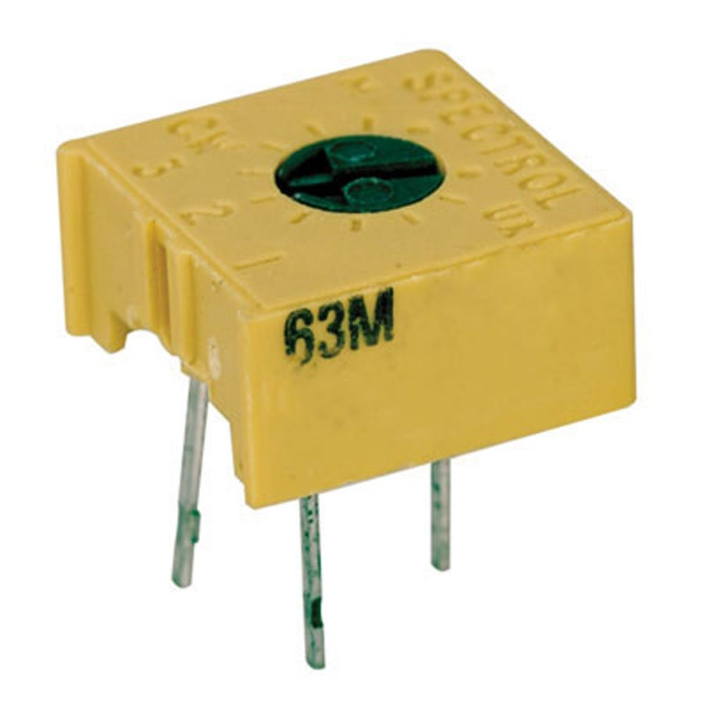 Pack of 10 0.375 L x 0.375 W x 0.19 H Spectrol 63M205//3386F-1-205 Square Cermet Trimmer Potentiometer 2M Ω Single Turn 2M /Ω 0.375 L x 0.375 W x 0.19 H Spectrol//Vishay Corporation Pack of 10