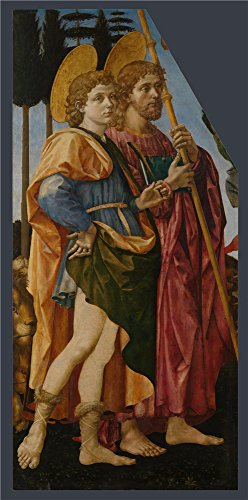 Polyster Canvas ,the Beautiful Art Decorative Prints On Canvas Of Oil Painting 'Francesco Pesellino And Fra Filippo Lippi And Workshop Saints Mamas And James ', 30 X 61 Inch / (Chewbacca Utility Belt Costume)