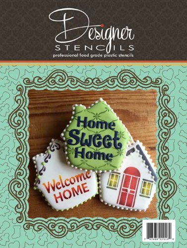 Welcome Home House Tin Cookie Cutter and Stencil Set TS083 by Designer Stencils
