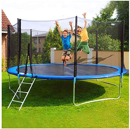 12 FT Kids TrampolineEnclosure Net Jumping Mat and Spring Cover Padding Toys Gift for Girls Boys Baby Kids Children`s Play Toy GiftOutdoor Children`s Adult Trampoline Outdoor Bungee Bed