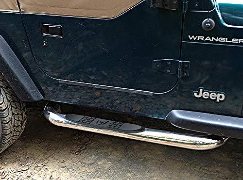 2003 Nerf Side Bars - MaxMate 1987-2006 Jeep Wrangler (No Drilling) 3