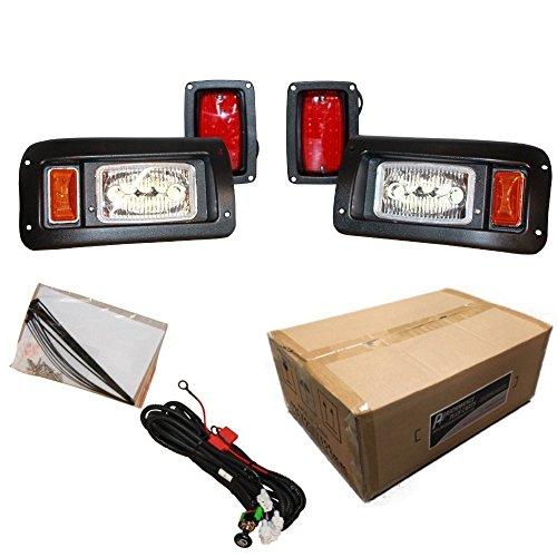 Performance Plus Carts Club Car DS Golf Cart Full LED Headlight Tail Light Kit 1993-Up ()