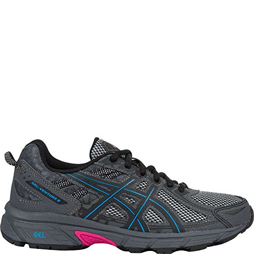 ASICS Women's Gel-Venture 6 Running-Shoes, Black/Island Blue/Pink, 8 B(M) US