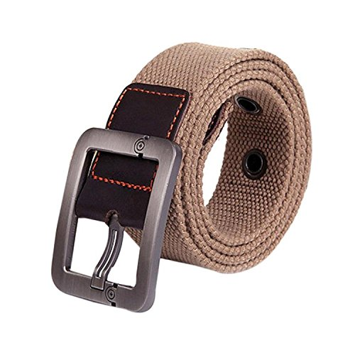 Beautface Makeup Fashion?NEW New Design Especially Man Women Automatic Square Buckle Waist Strap Sports Knit Canvas Belts cintos para as mulheres Black115cm
