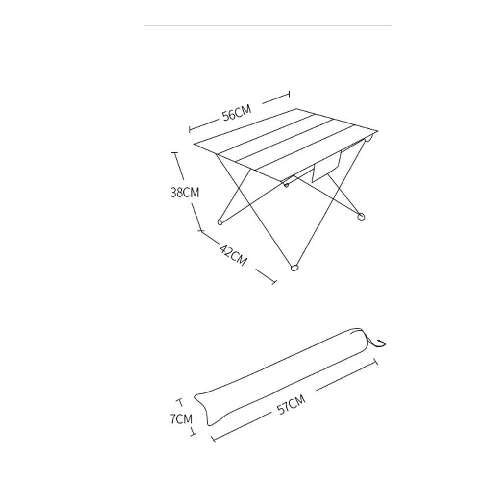 GYH ZhuoZi LJHA Mesa Ligera Plegable de Aluminio y Mesa de Comedor ...