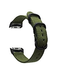 Digit.Tail Sport Nylon Replacement Soft Band Universal NATO Watch Strap Bands Accessories for Samsung Gear Fit 2 SM-R360 Smartwatch (Green)