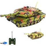 Team RC Infrared Remote Control Battle Tank, 1:18 Scale, 40 MHz Radio Control, Camo , Battle With A Different Frequency Tank 261-167