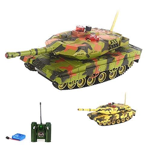 German Leopard 2A5 RC ferngesteuerter Panzer,Gefechtmodi,Schuss,Sound und Beleuchtung,Komplett-Set