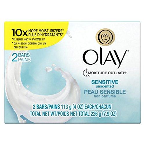 Olay Sensitive Bar Soap Bath 2-Bar 4 Oz
