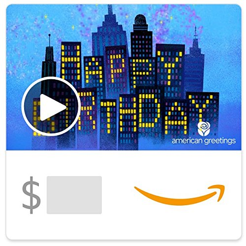 Amazon eGift Card - City Lights Birthday (Animated)) [American Greetings] ()