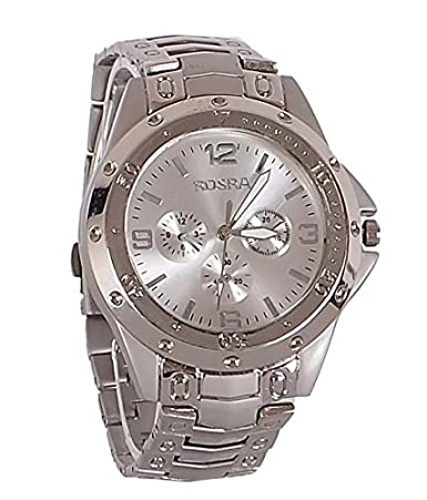 Capture Fashion™ Rosra Analogue Metal Silver Dial Watch for Men